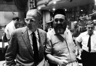 Record producer George Marek and Zero Mostel