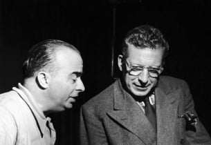 Conductor Salvatore dell'Isola and Ezio Pinza conferring about a difficult vocal