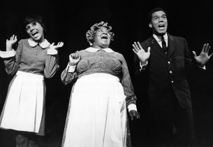 Leslie Uggams, Lillian Hayman and Robert Hooks (Photo: Friedman-Abeles, from the