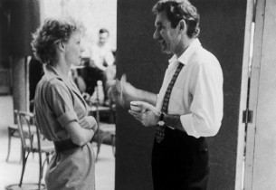 Gwen Verdon and George Wallace having a chat between takes