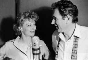 Gwen Verdon and George Wallace recording