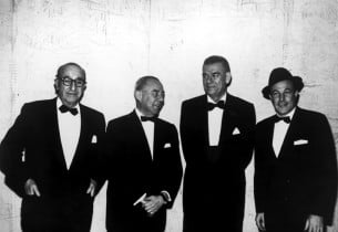 Author Joseph Fields, composer Richard Rodgers, lyricist Oscar Hammerstein II,