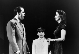 Jonathan Dokuchitz, Buddy Smith, Marcia Mitzman in a scene from The Who's TOMMY