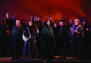 Stephanie J. Block and members of the ensemble (Photo: Joan Marcus)