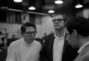 Composer Sherman Edwards, librettist Peter Stone, and unid (Photo: Don Hunstein)