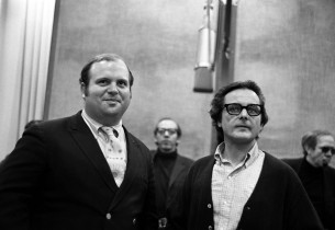William Daniels with the show director Peter Hunt (Robert Gaus and Roy Poole beh