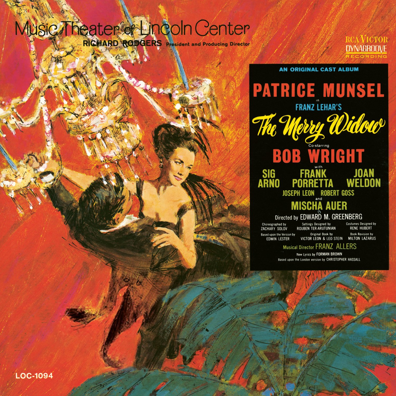 The Merry Widow Music Theatre Of Lincoln Center 1964