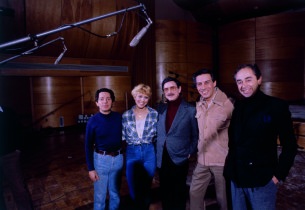 Thomas Z. Shepard, Wanda Richert, David Merrick, Jerry Orbach, and Bob Summer