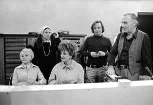 Glynis Johns, Judy Kahan, Hermione Gingold, Stephen Sondheim, Goddard Lieberson