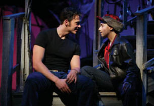 """A Little Less Conversation"" Cheyenne Jackson and Jenn Gambatese"
