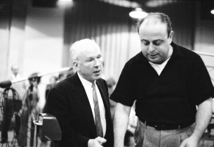 Composer Leroy Anderson and music director Lehman Engel (Photo: Don Hunstein)