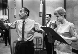 Goddard Lieberson, Arnold Soboloff and Angela Lansbury (Photo: Don Hunstein)