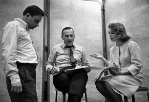 Stephen Sondheim, Goddard Lieberson, and Lee Remick (Photo: Don Hunstein)
