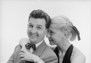 Eddie Bracken and Carol Channing (Photo: Howard Zieff)