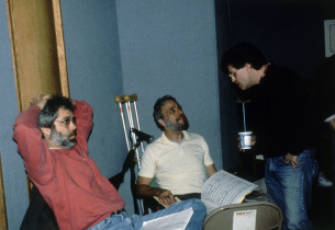 John Weidman, Stephen Sondheim and Jerry Zaks (Photo: Nick Sangiamo)