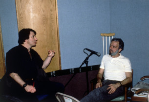 Jay David Saks, record producer, and Stephen Sondheim