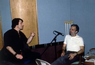Jay David Saks, record producer, and Stephen Sondheim