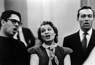 Nathaniel Frey, Shirley Booth and Johnny Johnston