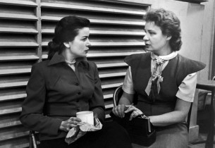 Marcia Van Dyke and Shirley Booth