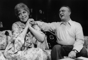 Dorothy Loudon and Vincent Gardenia in a scene from the show