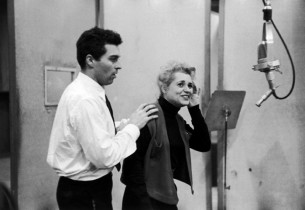 Sydney Chaplin and Judy Holliday