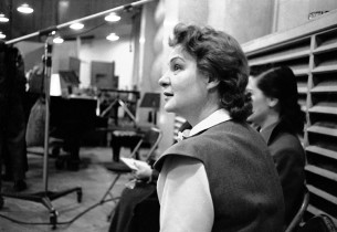 Shirley Booth in the recording studio