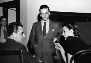 Frederick Loewe and Alan Jay Lerner with Marion Bell (Photo: Ben Kemper/Zinn Art