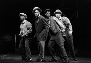 from l. to r:: Jimmy Tate, Savion Glover, Baakari Wilder and Vincent Bingham