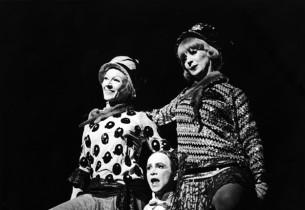 """Two Ladies"": Joel Grey, Mary Ehara and Rita O'Connor. (Photo: Friedman-Abeles)"