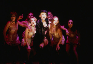 Natasha Richardson and the Cabaret Girls