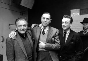 Composer Frederick Loewe, record producer Goddard Lieberson, lyricist Alan Jay L