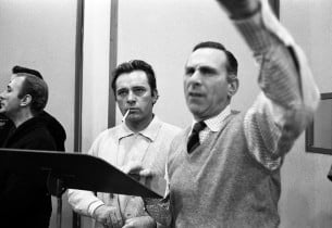 Richard Burton and Goddard Lieberson (Photo: Don Hunstein)