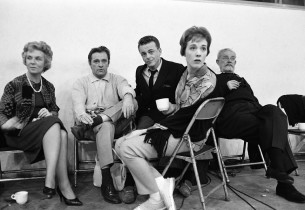 Sybil Burton, Richard Burton, Alan Jay Lerner, Julie Andrews, T.H. White (Photo: