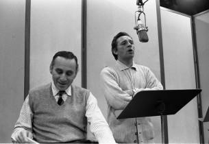 Goddard Lieberson and Richard Burton