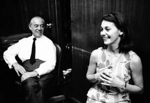 In the control room, Richard Rodgers and Susan Watson (Photo: Henri Dauman)