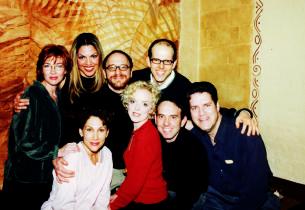 back row: Donna Bullock, Sara Ramirez, Lonny Price, Jeff Blumenkrantz; front row