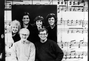 The cast with David Shire and Richard Maltby, Jr.