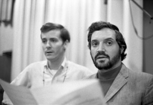 Hal Linden with David Christmas behind him
