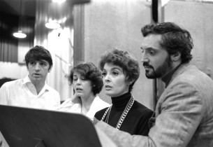 Steve Elmore, Sally Stark, Adrienne Angel and Hal Linden (Photo: Sandy Speiser)