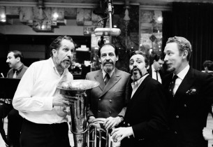 Vincent Price with Teddy Green, Marc Jordan and Reid Klein