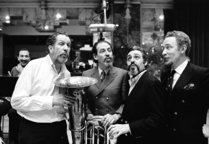 Four beards and a tuba: Vincent Price, Teddy Green, Marc Jordan and Reid Klein