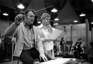 Music director Donald Pippin and Angela Lansbury