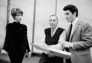 Elizabeth Allen, record producer Goddard Lieberson, and Sergio Franchi
