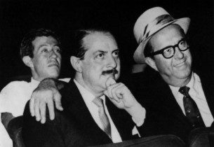Adolph Green, producer David Merrick and Phil Silvers