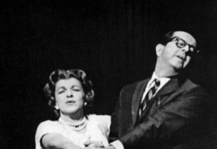 Nancy Walker and Phil Silvers in a scene from the show