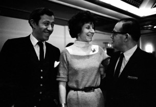 The creative team - Adolph Green, Betty Comden, and Jule Styne  (Photo: Jim Halp