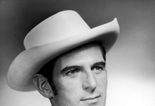 Stephen Douglass with cowboy hat