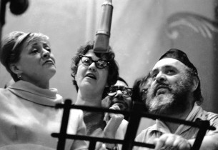Maria Karnilova, Bea Arthur and Zero Mostel (Photo: Marvin Lichtner)