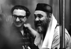Sheldon Harnick and Zero Mostel (Photo: Marvin Lichtner)
