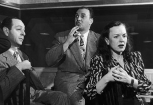 Burton Lane (music) and Fred Saidy, with star El